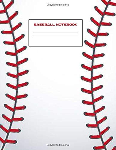 Baseball Notebook: Baseball Notebook 8.5