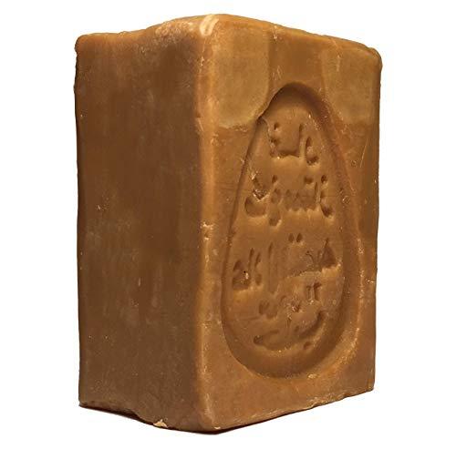 Olive and More Aleppo-Seife 190g mit 20% Lorbeeröl & 80% Olivenöl | Handgeschnitten & Handgemacht | ideal für Gesicht Körper Haarwäsche Rasur | 100% veganes Naturprodukt Naturseife| Naturkosmetik