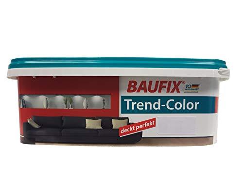 Baufix Wandfarbe Trend-Color farbton wählbar, seidenmatt 2,5 Liter, Farbe:Mocca