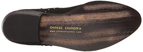 Chinese Laundry Saunter Damen Spitz Faux Wildleder Mode-Stiefeletten Schwarz