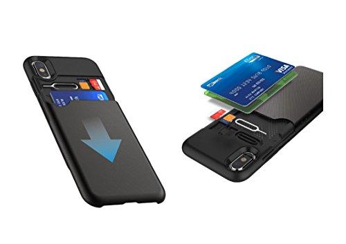 Funda iPhone X - KHOMO Carcasa Negra iPhone X (iPhone 10) con...