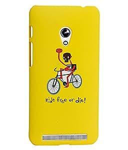 KolorEdge Printed Back Cover For Asus Zenfone 4 A450CG - Yellow (2117-Ke15101Zen4.5Yellow3D)