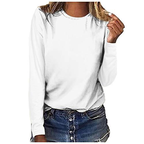 yazidan Frauen T-Shirt Casual Sommer Langarm T Fest Loose Fit Bluse Top Sweatshirt Pullover Shirt für Frauen