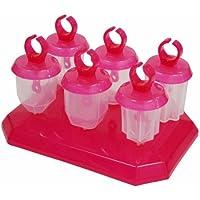 Tovolo 80-3879P Formine Ghiacciolo Jewel Pop con Supporto, Set 6 Pezzi, in Plastica