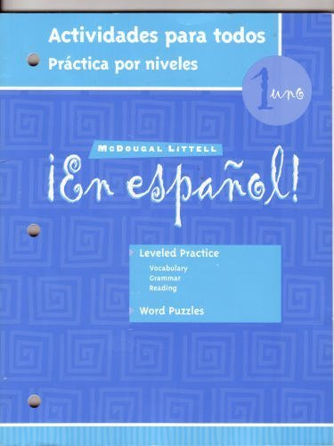 En Espanol 1: Actividades Para Todas par Estella Gahala