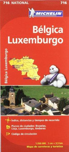Mapa National Bélgica Luxemburgo (Mapas National Michelin) por Vv.Aa