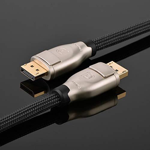 UGREEN DisplayPort Kabel 2M DP 1.2 Kabel 4K 60HZ 3D Monitorkabel Nylon mit Verriegelung für Laptop, GTX 1070, Lenovo Dockingstation, Monitor, HDTV usw
