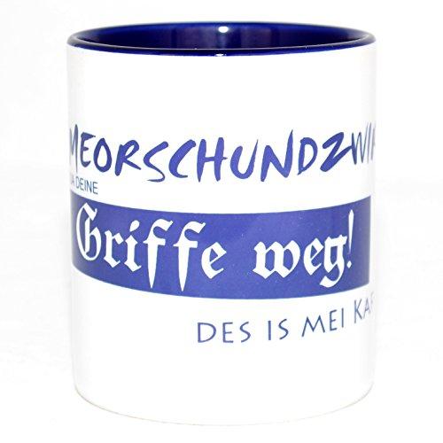 Bavariashop Kaffeehaferl 'Griffe weg!', Kaffee Tasse mit lustigem Spruch, Thermotransferdruck,...