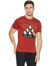 LP Jeans By Louis Philippe Men's Solid Slim Fit T-Shirt - B078HW4CBD