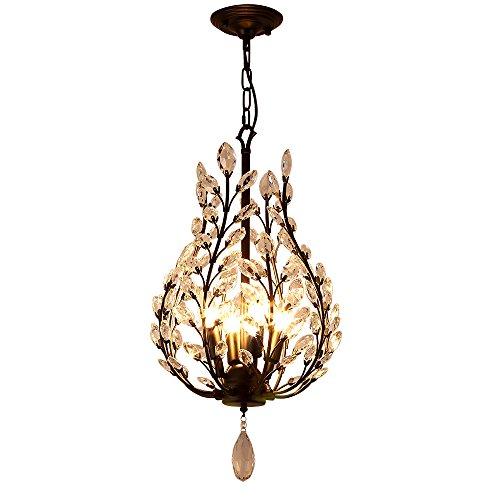 Kristall Kronleuchter Retro Laterne Hängeleuchte für Wohnzimmer Schlafzimmer Esszimmer Spielzimmer von Lightinthebox 220-240V