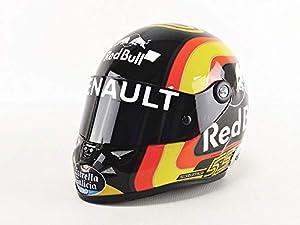 Mini Helmet - Coche en Miniatura de colección, SAINZ2018, Rojo, Amarillo, Negro y Blanco