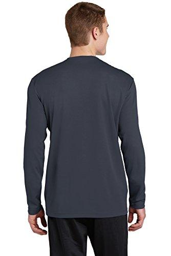 sport-tek Herren Long Sleeve Tee Grau - Graphite Grey