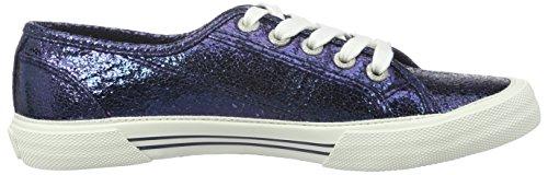 Pepe Jeans Damen Aberlady Crackle Sneakers Blau (NAVY 595)