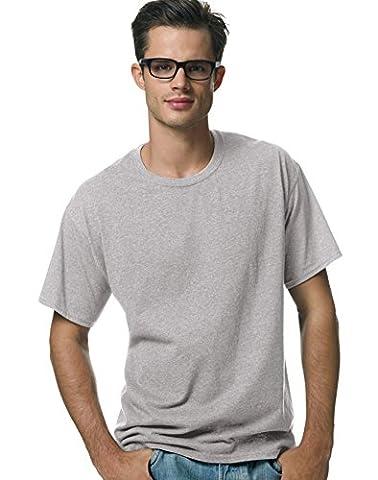 Hanes - T-shirt - Homme Gris Oxford XXXL