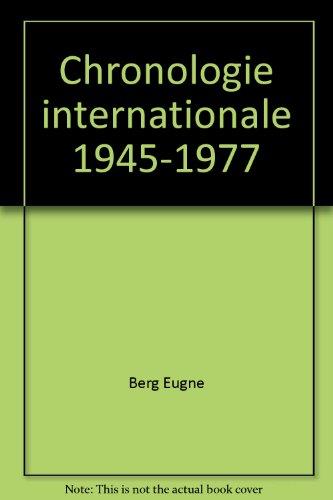 Chronologie internationale 1945-1977