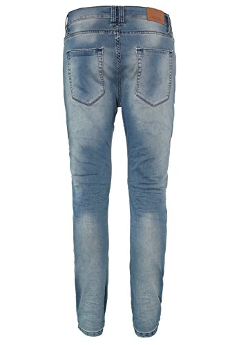 Urban Surface Herren Sweat Jeans Slim Fit | Bequeme Sweathose in Jeansoptik im klassischen 5 Pocket Design middle-blue