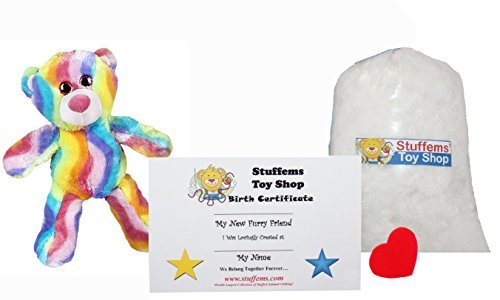 Make Your Own Stuffed Animal Mini 8 Inch Bubble Gum Bear Kit - No Sewing Required! by Stuffems Toy Shop (Gum Bubble Kit)
