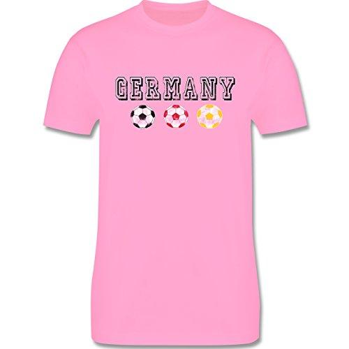 EM 2016 - Frankreich - Germany mit Fußbälle Vintage - Herren Premium T-Shirt Rosa