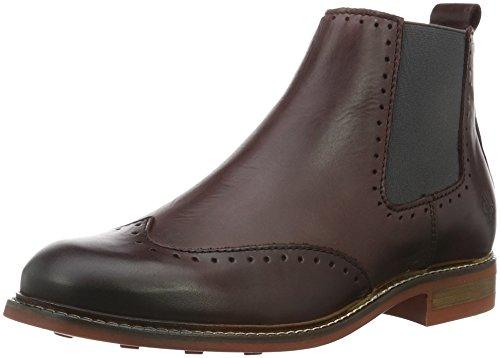 Marc O'Polo - Flat Heel Chelsea, Stivali bassi con imbottitura leggera Donna Rosso (Rot (Bordo 375))