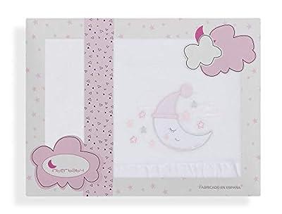 Sabanas de Invierno CORALINA Extrasuave MINICUNA 50x80 - (bajera+encimera+funda almohada) - Color: Rosa - OFERTA