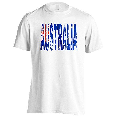 Regalo brandnew della bandiera australia Uomo T-shirt g122m White