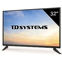 Televisores Led 32 Pulgadas HD Ready TD Systems (Resolución 1366x768/ HDMI x3/ VGA x1 /USB Reproductor y Grabador) K32DLM7H TV, Televisiones