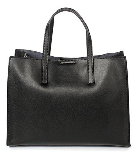 Xinmaoyuan Sacs à main pour femme Sacs à main en cuir sac à main de grande capacité Sac Loisirs Mesdames Sacs à bandoulière Black