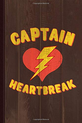 Captain Heartbreak Journal Notebook: Blank Lined Ruled For Writing 6x9 120 Pages por Flippin Sweet Books