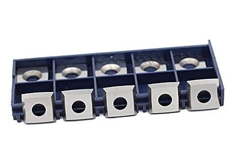 10,2cm Face Radius Hartmetall Ersatz Einsatz Cutter für Byrd shelix Kopf (15mm Länge 1,5Breite X2.5mm Dicke), 10Stück, Holz arbeiten Ersatz fügt