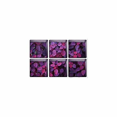 Décorations de Noël pour Halloween (Purple Leaves) 3D Bain/Sticker / Creative/Frosted / Les/Home / Bath/Sticker / personnalité/Auto - adhésif (13 * 13cm * 6pcs)