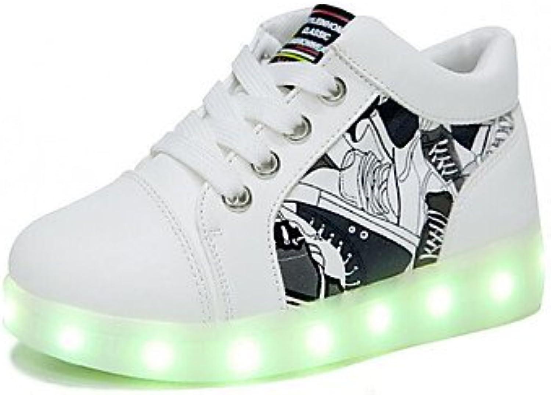 Aemember Muchachos 039; Zapatos PU Otoño Invierno Confort zapatillas para Casual blanco rojo,Blanco,US9/UE25/UK8...