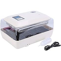lyrlody Incubadora de 24 Huevos Nacedora Automatica Pollitos Digital con Control de Temperatura y Alarma y Pantalla de Datos LED, Voltea el Huevo Automático