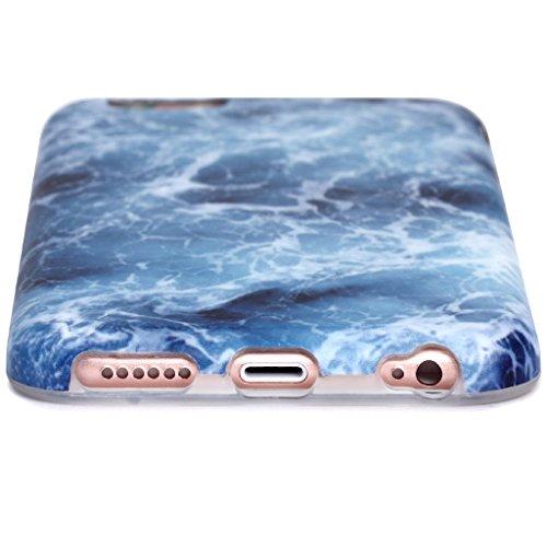 Schutzhülle für Apple iPhone 6 / 6S [Marmor / Marble] Design - Hard case cover Viele Varianten (Weiß - Marble) von Panelize C. & A. Blau 2