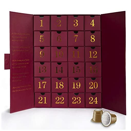 Advent Calendar with Nespresso Compatible Pods from Real Coffee. Two Capsules per Day