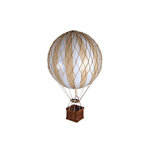Authentic Models Heißluftballon/Ballon-Modell - Karton/Bastkorb - Handarbeit - Ø 8 cm - Höhe: 20 cm …