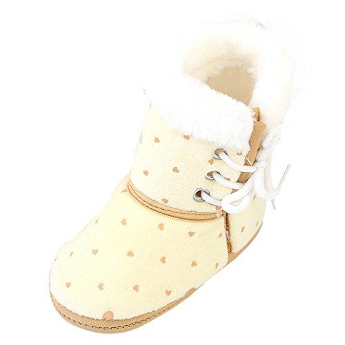 Quentes 1 Prewalker Babyschuhe Recém 12 Sapatos Impressão Macia Meses Amarelo Coração Sapatos Criança Longra Manjedoura Botas Lauflernschuhe Bebê nascido Sola 8c8awxpqrZ