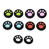 10pcs Mix Color Cat Paw Controller Joyst...