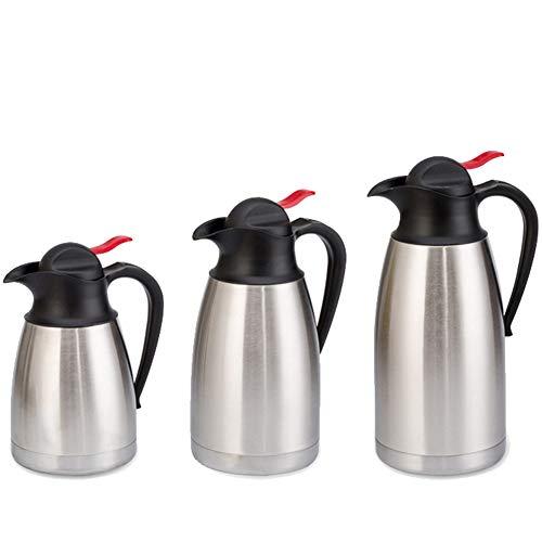 ZXXxxZ Vakuum-Thermoskanne Edelstahl Kaffee Wasser Karaffe Staubdicht rutschfest Verdicken Auslaufsicher Langlebig Tragbar 3er Pack,28 * 12cm -