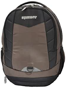 Regent Laptop Black And Brown Coloured Backpack Convey