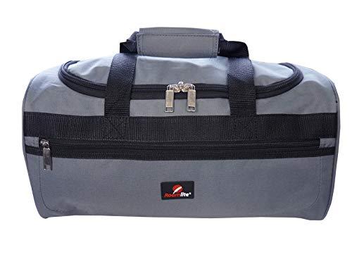 Roamlite Borsone Piccolo - Adatto per Voli Ryanair come Secondo Bagaglio a Mano - Misure Esatte 40 x 25 x 20 cm - Bagaglio da Cabina - Ultraleggero 0.4kg - Perfetto per Viaggi in Aereo - RL59 (Grigio)