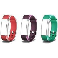 endubro Pulsera Repuesto para Fitness Tracker ID115 HR Plus (Verde + Rojo + Violeta)