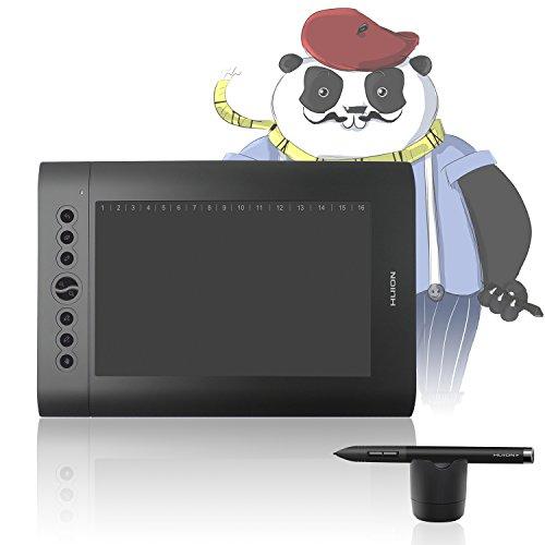 Tablette graphique de dessin Huion H610 Pro 8192 avec 8 touches rapides pour Mac et Windows