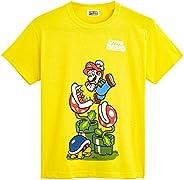 Super Mario Camiseta Niño, Ropa Niño Algodón 100%, Camisetas de Manga Corta con Personaje Mario Bros, Merchand