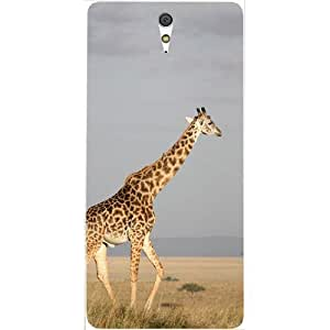 Casotec Giraffe Tall Design Hard Back Case Cover for Sony Xperia C5 Ultra Dual