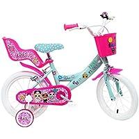 "ALTRO Art. 2295 MGA, Bici Bimba 14"" LOL 2 Freni Unisex_Bambini, Rosa-Celeste"