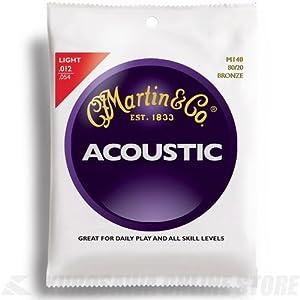 Martin Set di corde per chitarra acustica Bronze Light (.012 .054) 80/2 M140 Light (12-54)