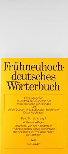 Frühneuhochdeutsches Wörterbuch / erab- - erscheinung