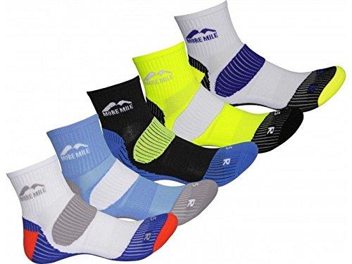 hommes-more-mile-pack-de-5-cheville-courir-formateurs-cushioned-londres-chaussettes
