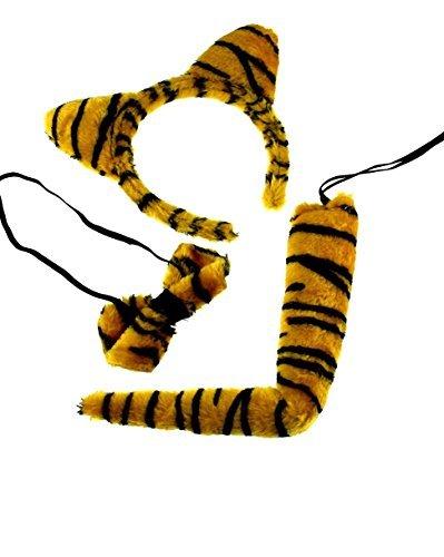 üm Instant Tier Satz - ideal für Welttag des Buches - Tiger, One Size ()