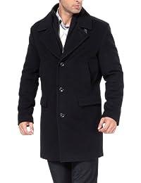 BGSD Men's 'Stephen' Cashmere Blend Bibbed Walking Coat